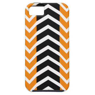 Orange and Black Whale Chevron iPhone 5 Cover