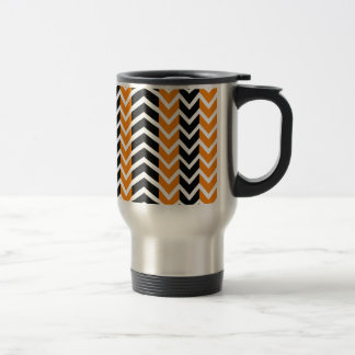 Orange and Black Whale Chevron Travel Mug