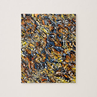 Orange And Blue Abstract Jigsaw Puzzle
