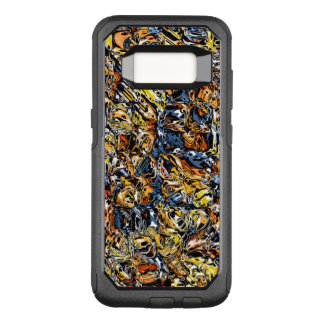 Orange And Blue Abstract OtterBox Commuter Samsung Galaxy S8 Case