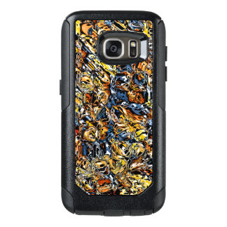 Orange And Blue Abstract OtterBox Samsung Galaxy S7 Case