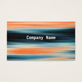 Orange and Blue Abstract Pattern Business Card