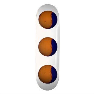 Orange and Blue Baseball Custom Skate Board
