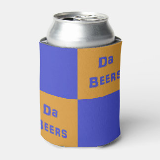 """Orange and Blue """"Da Beers"""" Beverage Cooler Holder"""
