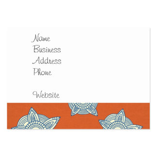 Orange and Blue Decorative Pattern Gifts Business Card