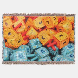 Orange and Blue Dreidels