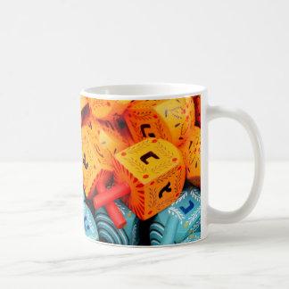 Orange and Blue Dreidels Coffee Mug