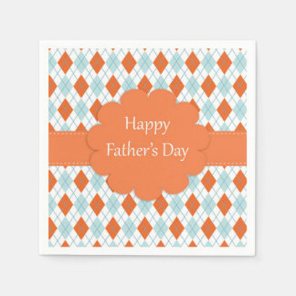 Orange and Blue Father's Day Napkins Disposable Serviettes