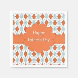 Orange and Blue Father's Day Napkins Paper Napkin