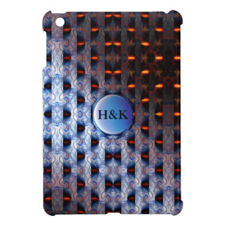 Orange and Blue Pattern (add initials) Case For The iPad Mini