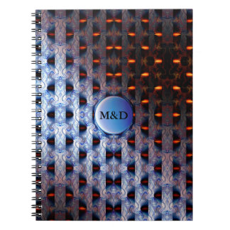 Orange and Blue Pattern Note Books