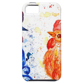 Orange and Blue Roosters iPhone 5 Case