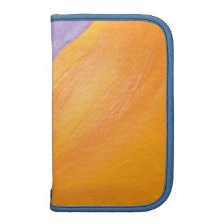 orange and blue smartphone planner
