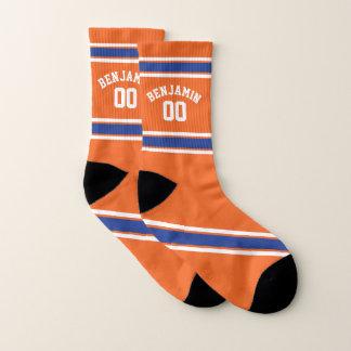 Orange and Blue Sports Jersey Stripes 1