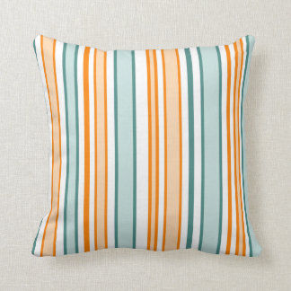 Orange and Blue Stripes Cushion