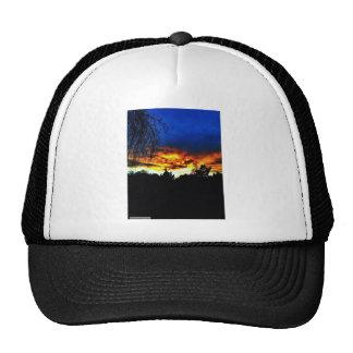 Orange and Blue Sunset Trucker Hats