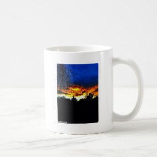 Orange and Blue Sunset Mugs