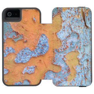 Orange and Blue Tree Bark Incipio Watson™ iPhone 5 Wallet Case