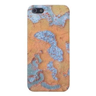 Orange and Blue Tree Bark iPhone 5/5S Cases