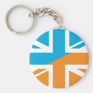Orange and Blue Union Jack British(UK) Flag Keychains