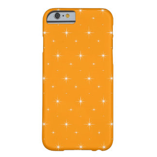 Orange And Bright Stars Elegant Pattern Barely There iPhone 6 Case