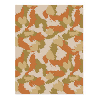 Orange and Brown Camouflage Postcard