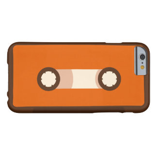 Orange and Brown Retro Cassette Tape Barely There iPhone 6 Case