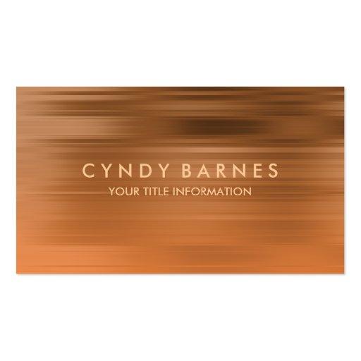 Orange and Copper Stripe Business Card