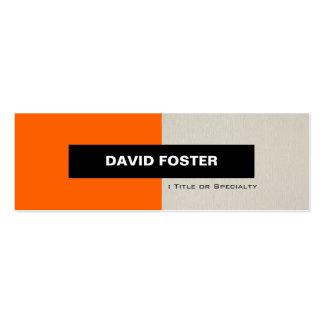 Orange and Cream - Simple Elegant Stylish Business Card Templates