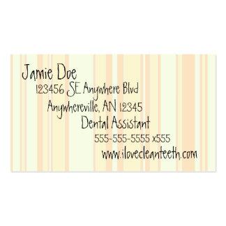 Orange and Cream Stripe Business Card