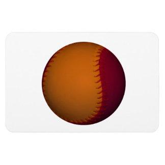 Orange and Dark Red Baseball Flexible Magnet