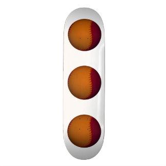 Orange and Dark Red Baseball Custom Skateboard