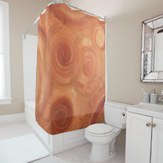 Orange and Gold Fine Art Abstract Painting Shower Curtain