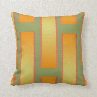 Orange and Green Cotton Reversible Pillow