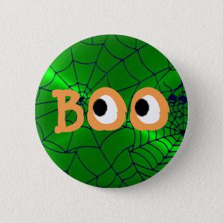 Orange and Green Halloween Boo Eyeballs Button