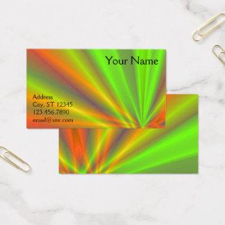 Orange and Green Light Show Fractal Art Business Card