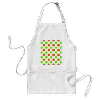 Orange and Green Polka Dots Adult Apron