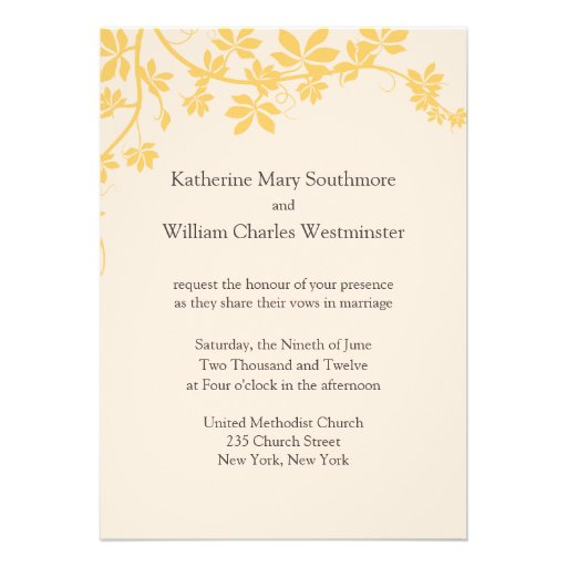 Orange And Ivory Wedding Invitations