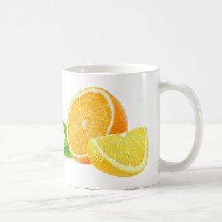 Orange and lemon pieces basic white mug