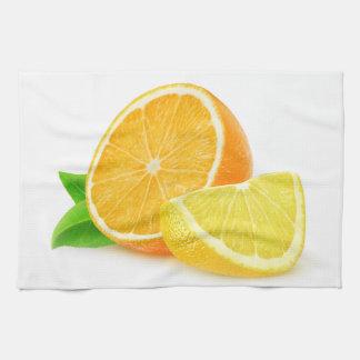 Orange and lemon tea towels