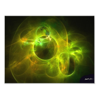 Orange and Lime Circles Photo Print