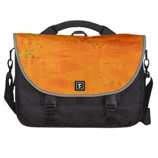 Orange and Lime Color Pattern Collage Laptop Messenger Bag