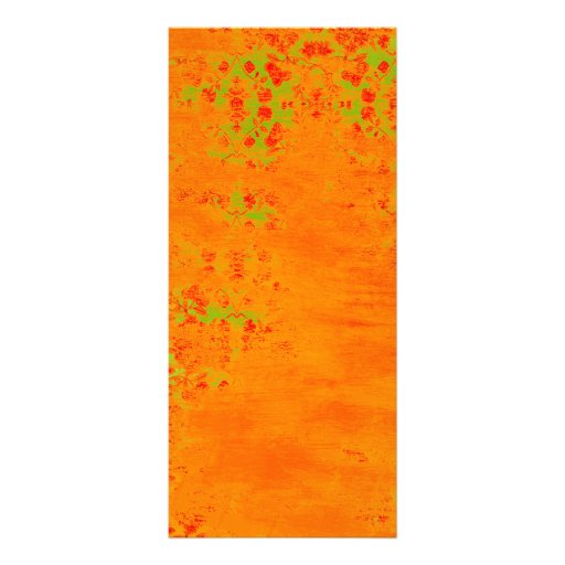 Orange and Lime Color Pattern Collage Personalized Rack Card