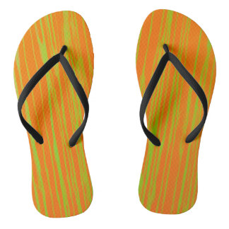 Orange and Lime Stripes by JP Choate Thongs