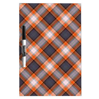 Orange and Navy Blue Plaid Dry-Erase Whiteboards
