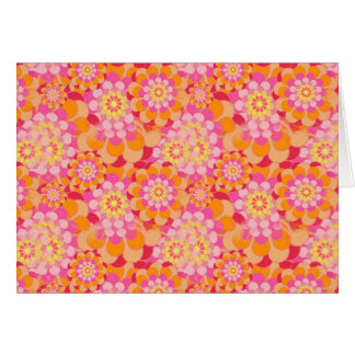 Orange and Pink Flowers Card