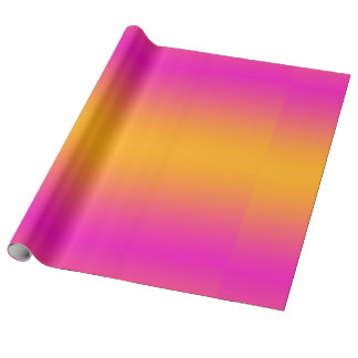 Orange and Pink Gradient Color Wrapping Paper