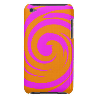 Orange and pink swirl Case-Mate iPod touch case