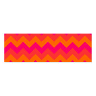 Orange and Pink Zigzag Pack Of Skinny Business Cards