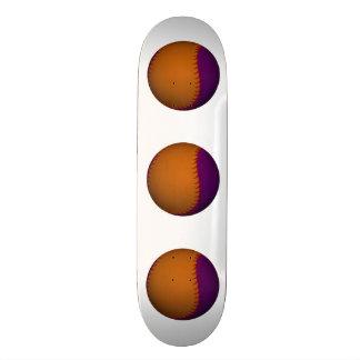 Orange and Purple Baseball Skate Board Decks